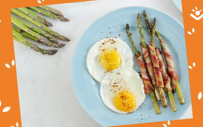 Lekker voor Pasen: asperges met spek en ei
